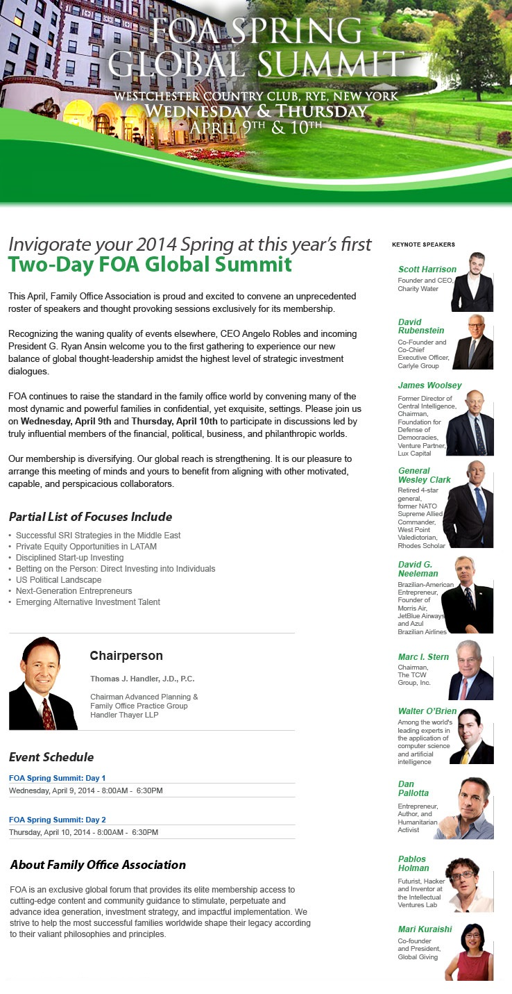 FOA Global Summit