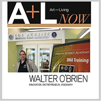 Walter O'Brien featured in Art and Living Magazine.